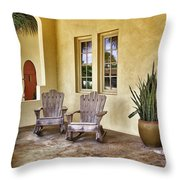 Seaside Patio Throw Pillow