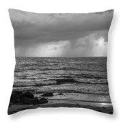 Seaside Rainstorm 2 Throw Pillow