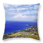 Seaside Resort Throw Pillow