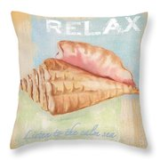 Seaside Retreat-a Throw Pillow by Jean Plout