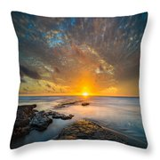 Seaside Sunset - Square Throw Pillow