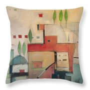 Seaside Villa Throw Pillow