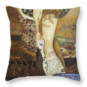Seasnakes And Squiggles Throw Pillow