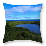 Season Of Blue And Green Throw Pillow