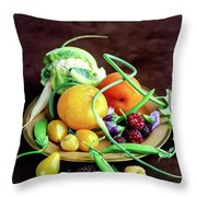 Seasonal Fruit And Vegetables Throw Pillow