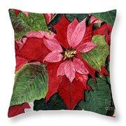 Seasonal Scarlet Throw Pillow