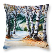 Seasonal Transition Throw Pillow