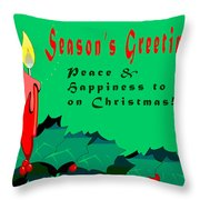 Seasons Greeting Throw Pillow