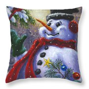 Seasons Greetings Throw Pillow by Richard De Wolfe