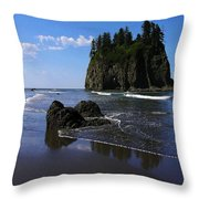Seastack Throw Pillow