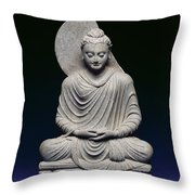 Seated Buddha Throw Pillow