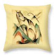 Seated Mythical Animal 1913 Throw Pillow
