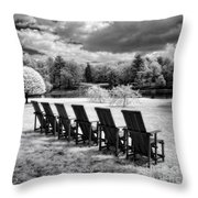 Seating For Six Throw Pillow