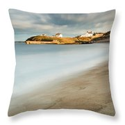 Seaton Sluice In Smooth Water Throw Pillow