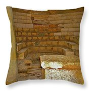 Seats For The Elders And Podium In Church Of Saint Nicholas In Myra-turkey Throw Pillow