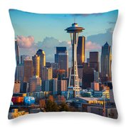 Seattle Afternoon Throw Pillow