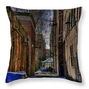 Seattle Alleyway Throw Pillow