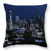 Seattle Blues Throw Pillow