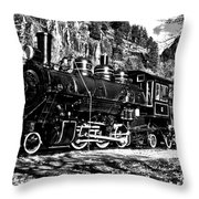 Seattle City Light Train In Bw Throw Pillow