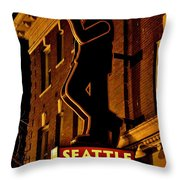 Seattle Coffee Works Throw Pillow