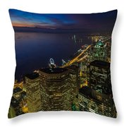 Seattle Dusk Colors Throw Pillow