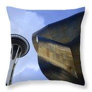 Seattle Emp Building 4 Throw Pillow