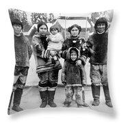 Seattle Eskimo Family Throw Pillow