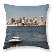 Seattle From Alki Beach Throw Pillow