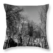 Seattle From Pioneer Square Throw Pillow