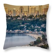 Seattle From The Air Throw Pillow
