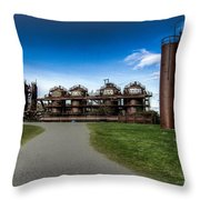 Seattle Gas Light Company Gasification Towers Throw Pillow
