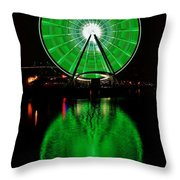 Seattle Great Wheel In Motion Throw Pillow