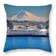 Seattle Harbor Throw Pillow