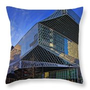 Seattle Library Throw Pillow
