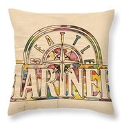 Seattle Mariners Poster Art Throw Pillow