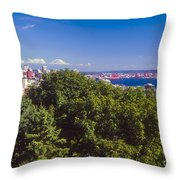 Seattle On Puget Sound Throw Pillow