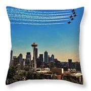 Seattle Seafair Throw Pillow