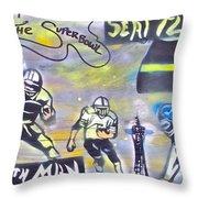 Seattle Seahawks 3 Throw Pillow