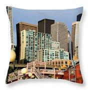 Seattle Skyline. Throw Pillow
