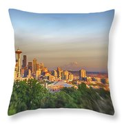 Seattle Skyline Lens Baby Hdr Throw Pillow