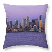 Seattle Skyline Panorama - Massive Throw Pillow