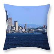 Seattle Skyscrapers Throw Pillow