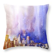 Seattle Sunrise Throw Pillow