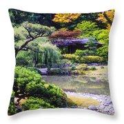 Seattle Tea Garden Throw Pillow