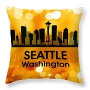 Seattle Wa 3 Throw Pillow