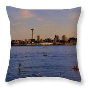 Seattle Waterfront 2 Throw Pillow
