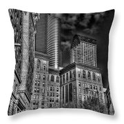 Seattle's Old And New Throw Pillow