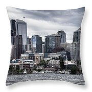 Seattle's Skyline Throw Pillow