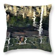 Seawalk Reflected Throw Pillow