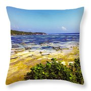 Seaweed Farming Bali Throw Pillow by Jo Ann